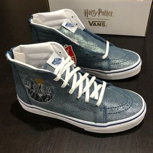 Vans Sk8-Hi Zip Harry Potter Hogwarts Metallic